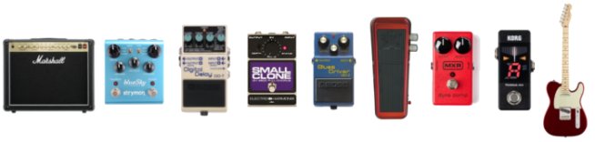 A Common Guitar Pedal Effects Chain From Your It Goes To Tuner Compressor Wah Overdrive Chorus Delay Reverb Amp